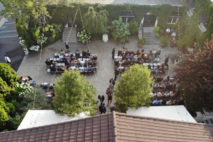 Summer Courtyard Wedding